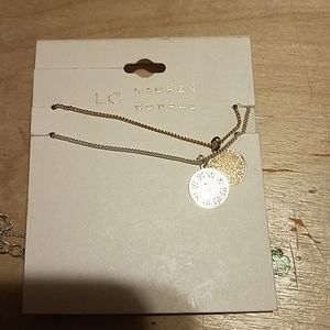 Lauren conrad gold and silver necklace set